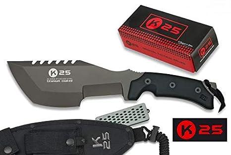 K25 Cuchillo Modelo Tracker. Acero Inoxidable Y Titanio ...