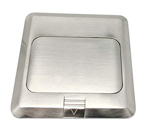 Pop Up Floor Box Countertop Box w/15A with 2 USB Charging Ports Receptacle - Brass, Nickle Plating by LHFACC (Image #4)