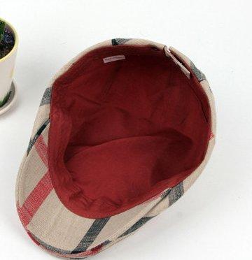 o Beige visera de mujer 3 de el Sombrero la del Acvip casquillo adulto la la unisex raya ajustable de boina para un o colores hombre tama del 4R5581qwFW