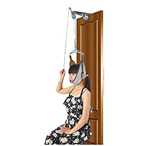 Over The Door Neck Traction Device Neck Stretcher for Neck Pain Relief, Cervical Traction Kit 6