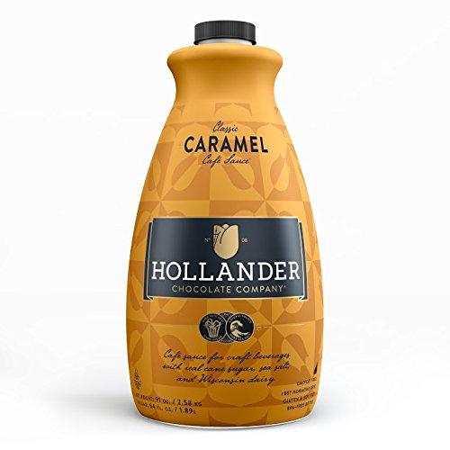 (Hollander Chocolate Co. Caramel Café Sauce, 91 oz. Large Bottle )