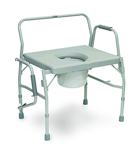 ISG413BAREA - Bariatric Drop Arm Commode for Easy Transfer, 27-1/2 x 18-1/2 Seat by Invacare