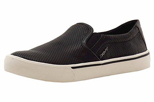 DKNY Donna Karan Women's Bess Black Leather Fashion Sneakers Shoes Sz: 7.5