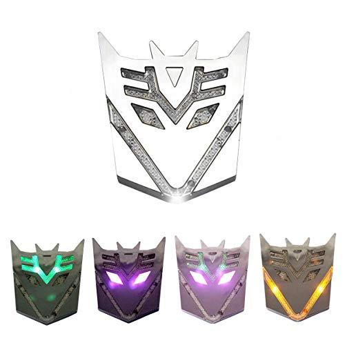 (HengJia Auto Parts Car Solar energy LED Transformers Metal 3D Emblem, led Styling Warning Lamp-Decepticons )