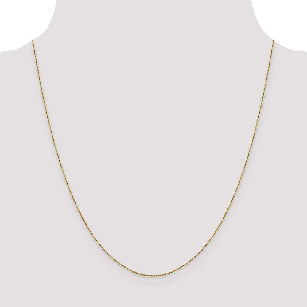 16 18 20 Length Options Leslie 14k .85 mm Sparkle-Cut Cable Chain Necklace