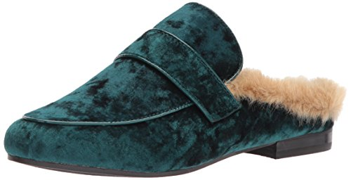 Steve Madden Womens Kaden Loafer Flat Green Velluto