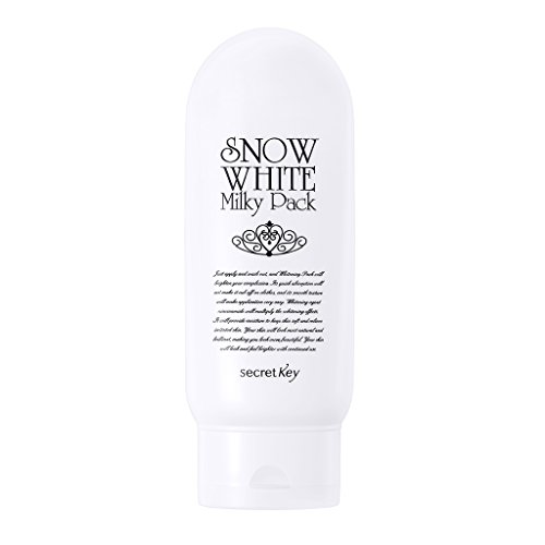 [SECRET KEY] Snow White Whitening Milky Pack 200g for Face and Body, Wash-Off Type, Instant Natural Brightening Lasting for -