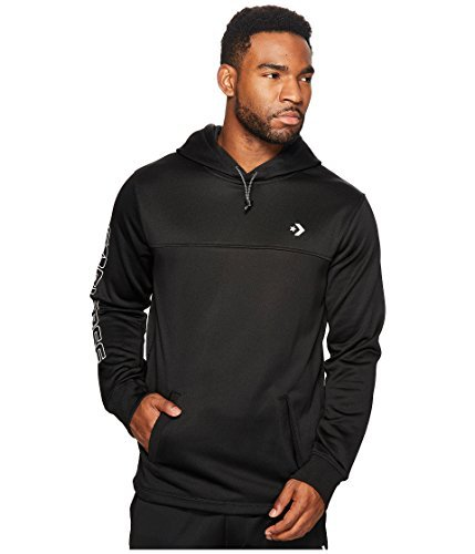 Converse - Hybrid Popover Hoodie (black) Men's Sweatshirt (Converse Hooded Pullover)