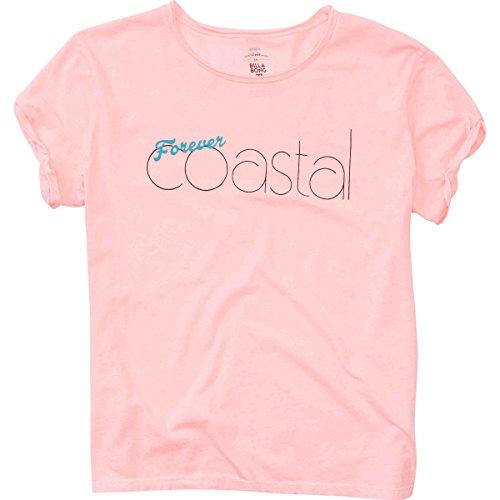 Forever Juniors T-shirt (Billabong Women's Forever Coastal Vintage T-Shirt, Coral Shine,)
