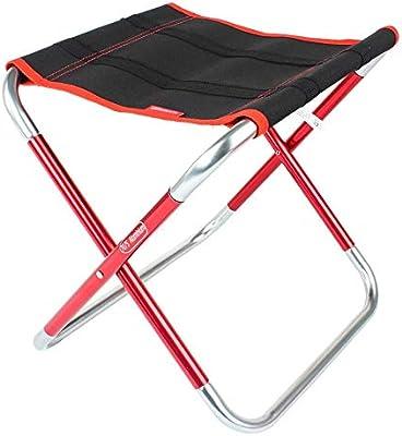 ChenBing-ftn Silla Plegable de Metal Comfort Mini Silla ...