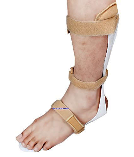 Ankle Foot Orthosis Support – Drop Foot Support Splint by HealthNode (Left (Large))