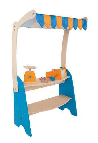 Hape Market Checkout Kid's Wooden Kitchen Play Food Set and Accessories ()