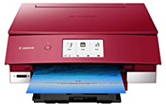 Introducing the sleek and streamlined PIXMA TS8220 Wireless Inkjet All-In-One home printer, available in Black, White and Red color options. The PIXMA TS8220 is a high-end Inkjet All-In-One printer designed with fast prints, robust features a...