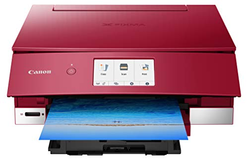 Canon TS8220 Wireless All in One Photo Printer with Scannier and Copier, Mobile Printing, Red