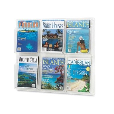 Safco Products 5607CL Reveal Literature Display, 6 Magazine, Clear by Safco Products