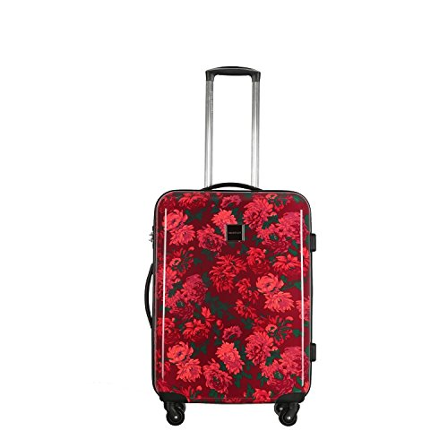 DH Girls Pink Berry-Red Floral Theme Carry On Upright Rolling 29