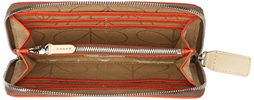 Embossed Flower Leather Big Wallet Wallet, Orange, One Size by Orla Kiely (Image #4)