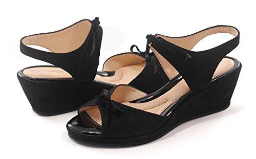 Beautifeel Lotty Black Suede Sandal