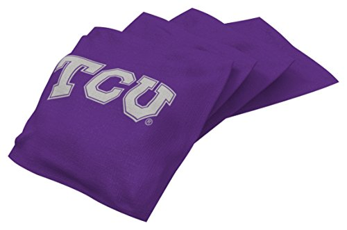 lege Tcu Horned Frogs Purple Authentic Cornhole Bean Bag Set (4 Pack) (Tcu Set)
