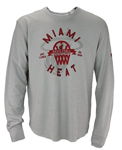 Amazon.com   adidas Miami Heat NBA Men s Long Sleeve Thermal Shirt ... 7cc2989aa