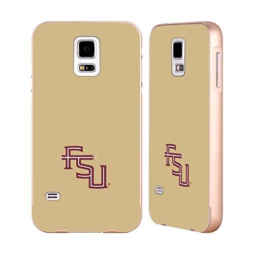 te University FSU Seminoles Gold Aluminum Bumper Slider Case for Samsung Galaxy S5 / S5 Neo (Gold Seminole Head)