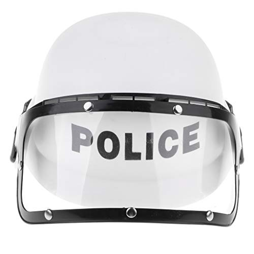 Flameer Party Cop Officer Motorcycles Helmet, Hats w/Visor for Police Role Play Kids & Boys Dress Up Costume -