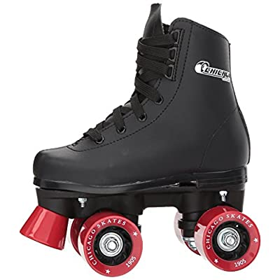 Chicago Boys Rink Roller Skate - Black Youth Quad Skates : Sports & Outdoors