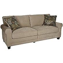 "Serta RTA Copenhagen Collection 78"" Sofa in Marzipan"