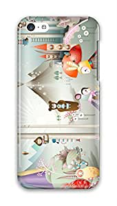CaseandHome Cartoon Characters PC Material Hard Case For iphone 5c