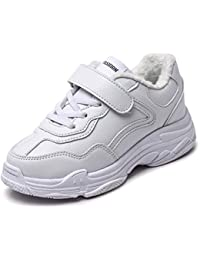 Kid Fashion Sneakers Faux Fur Lined Sport Walking Shoes...