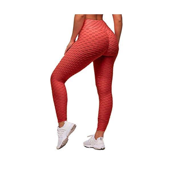ORANDESIGNE Leggings Femme de Compression Anti-Cellulite Slim Fit Butt Lift Elastique Pantalon de Yoga Taille Haute Sport accessoires de fitness [tag]