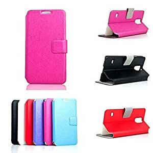GOG- Elegant Design Leather Case with Stand for Samsung Galaxy S5 I9600 (Assorted Colors) , Red