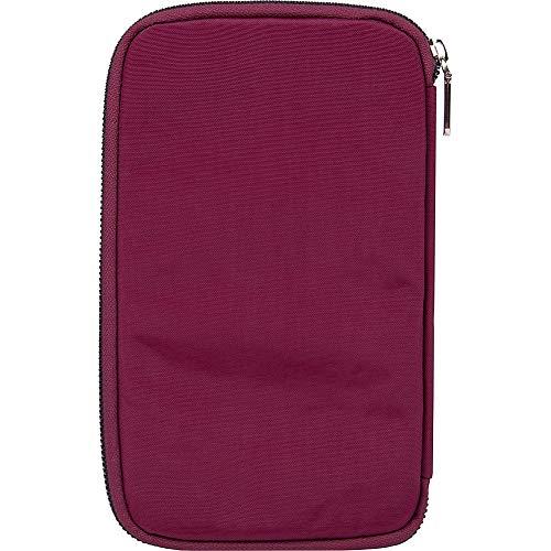 41LGGor8X6L - Travelon RFID Blocking Family Passport Zip Wallet, blossom Floral