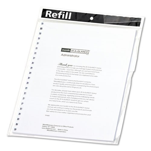 At-A-Glance 7092380 Monthly Planner Refill 9 x 11 White 2020