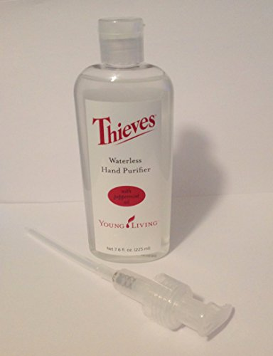 Thieves Waterless Hand Purifier Young Living 7.6 Oz Plus Pump by Young Living Essential Oils (Young Living Purifier)