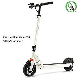 ACDRX Scooter Adulti,E-Scooter,Scooter Elettrico Pieghevole,9 Pollici Pneumatici Solidi Monopattino,velocità Massima…