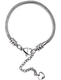 Snake Charm Bracelet Stainless Steel Snake Chain Bracelet for Women Valentine's Day Gifts