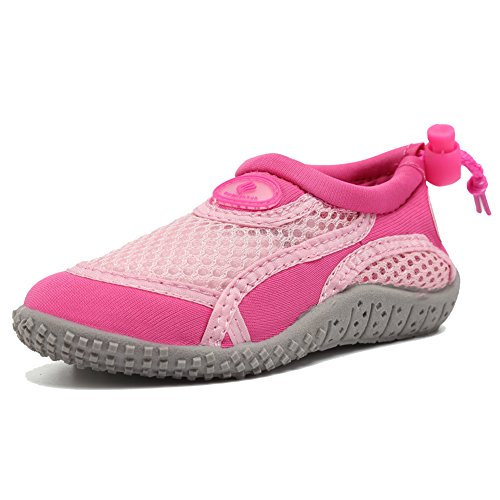 CIOR FANTINY Boy & Girls' Water Aqua Shoes Swimming Pool Beach Sports Quick Drying Shoes (Toddler/Little Kid/Big Kid),TD397,Pink,21