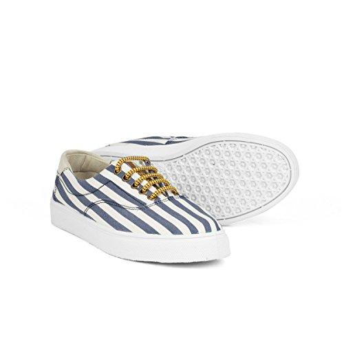 Navy Sneaker Size Stripes Life Flamingos' 42 Unisex Oslo EI4wWq8