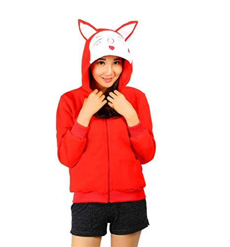 Costume Capuchon 1 Red Manches Caline Sweat A Automne Outerwear Capuche Longues Femme Capuche lgant Coat Manteau Printemps Sweat Imprim Gaine Panda Mode Cx8RqS