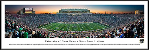 Notre Dame Football - Standard Framed Print by Blakeway Panoramas