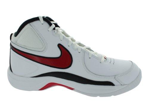 Nike Overplay Vii (7) Mens Basket Skor Vit / Sport Röd / Svart