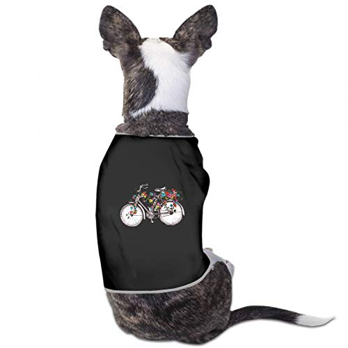 (Fashion Unique Custom Pet Costume Bike Flowers Design Element Wedding Invitations Printing Cute Leisure Teddy Puppy Pet Dog Clothes Dog Pet Pajama Dog Shirt For Large Medium Small Dogs Cats)