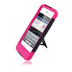 IPod Touch 5 Black And Pink Hardcore Kickstand Case 3rd Gen.