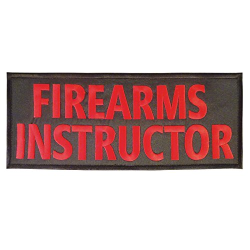 LEGEEON Firearms Instructor Big XL 10x4 inch Body Armor Vest Tactical Fastener Patch