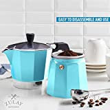 Zulay Classic Stovetop Espresso Maker for Great