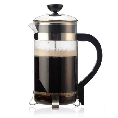 - Primula Classic French Press Coffee/Tea Maker - Glass 8 Cup/32 Oz, Black/Chrome Accents