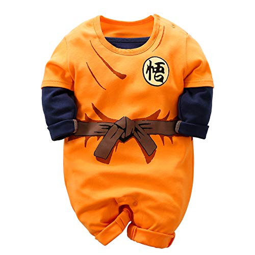 YFYBaby Dragon Ball Z Cosplay Long Sleeve Baby Boy and Girls Goku Rompers Costume Jumpsuit Baby Clothes ()