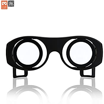 Virtual Reality Goggles Goggle Tech C1-Glass 3D Glasses for 3D Images & Videos on Android & iOS Smartphones (Black V2)