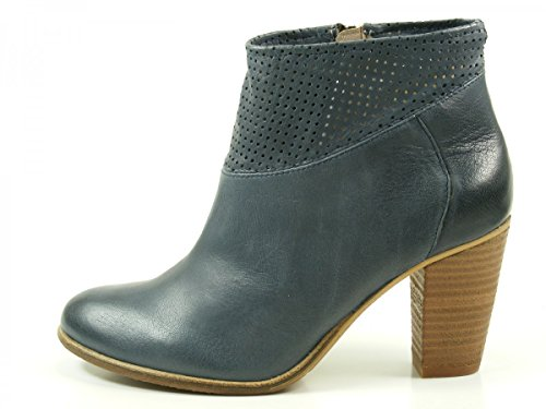 SPM 10755067 Calvinl botas para mujer de cuero Blau